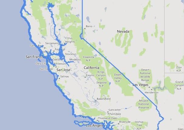 מפה של קליפורניה