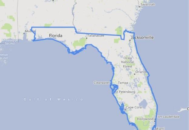 מפה של פלורידה