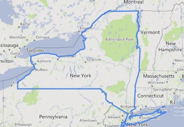 מפה של ניו-יורק
