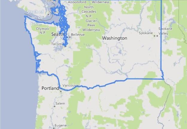 מפה של וושינגטון
